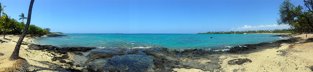 Anaehoomalu Bay Panorama